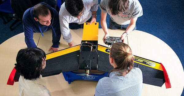 engineering working on project