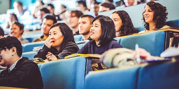 international students in lecture